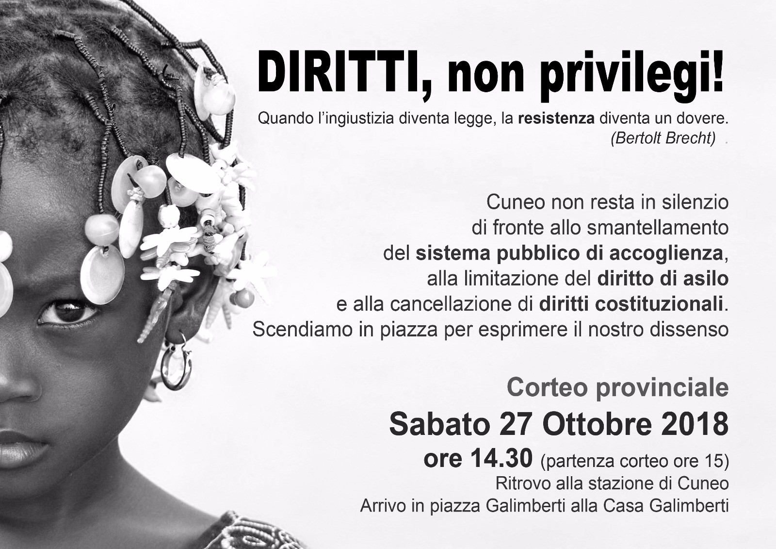 Cuneo 27 ottobre 2018